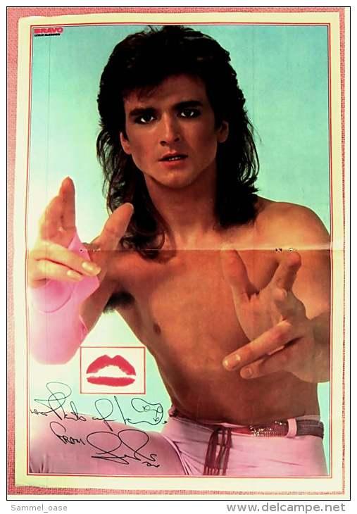 Kleines Musik Poster  -  Gruppe Ritchy Family  -  Rückseite : Leslie McKeown  -  Von Bravo Ca. 1982 - Plakate & Poster