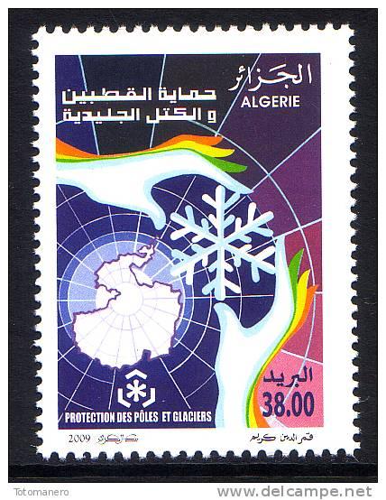 ALGERIA 2009 - IPY Global Warming, Preserve The Polar Regions And Glaciers, 1v** - Preservare Le Regioni Polari E Ghiacciai
