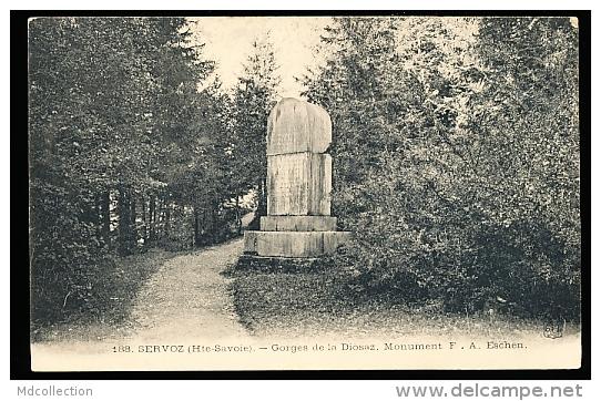 74 SERVOZ / Gorges De La Diosaz, Monument F. A. Eschen / - France