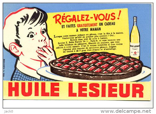 Buvard  Alimentaire  Marque  HUILE  LESIEUR  Régalez-vous - Buvards, Protège-cahiers Illustrés