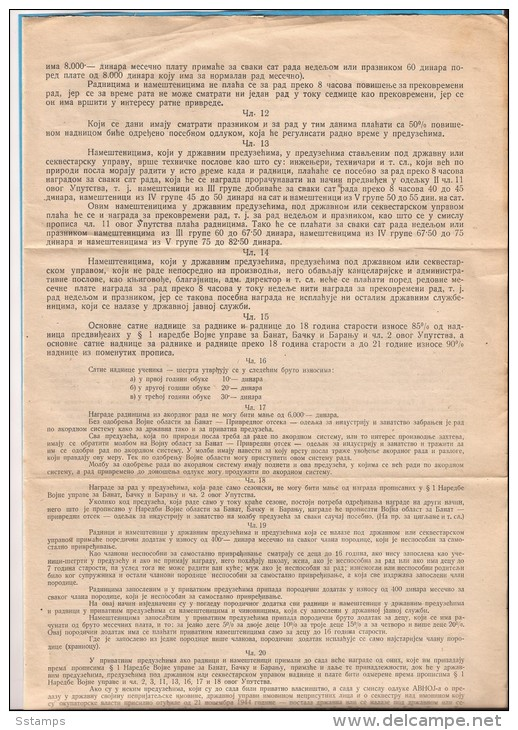 1944 X JUGOSLAVIJA MANIFEST PARTIGIANI COMMAND INSTRUCTION COMPLETE - Covers & Documents