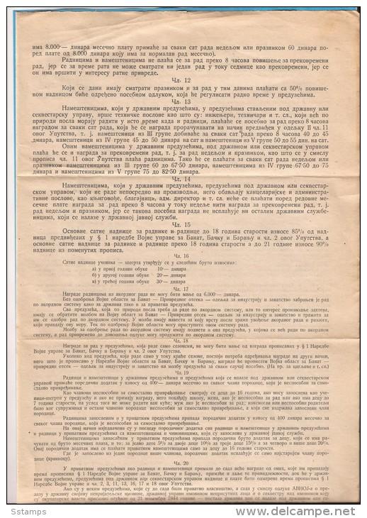 1944 X JUGOSLAVIJA MANIFEST PARTIGIANI COMMAND INSTRUCTION COMPLETE - 1945-1992 Socialist Federal Republic Of Yugoslavia