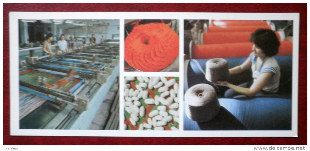 Osh Silk Mills - Kirghiz Worsted Wool Mills - 1984 - Kyrgystan USSR - Unused - Kirghizistan