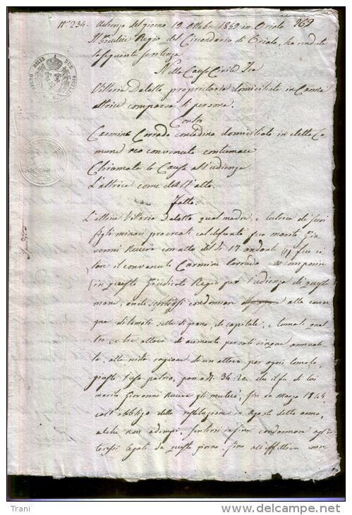MANOSCRITTO EPOCA REGNO DUE SICILIE - Anno 1848 - Manuscrits