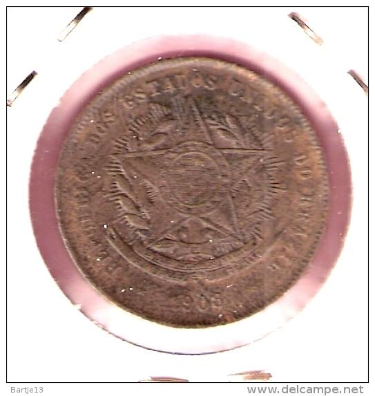BRAZILIE 20 REIS 1908 - Brésil