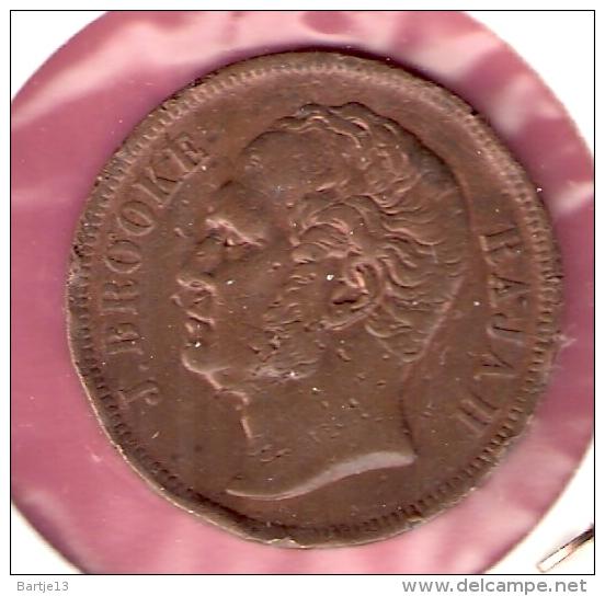 SARAWAK 1 CENT 1863 UNC ORIGINELE KLEUR SCHAARS IN DEZE KWALITEIT - Monnaies