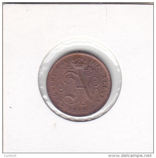 2 CENTIMES Cuivre Albert I 1919sur 1914 - 02. 2 Centimes