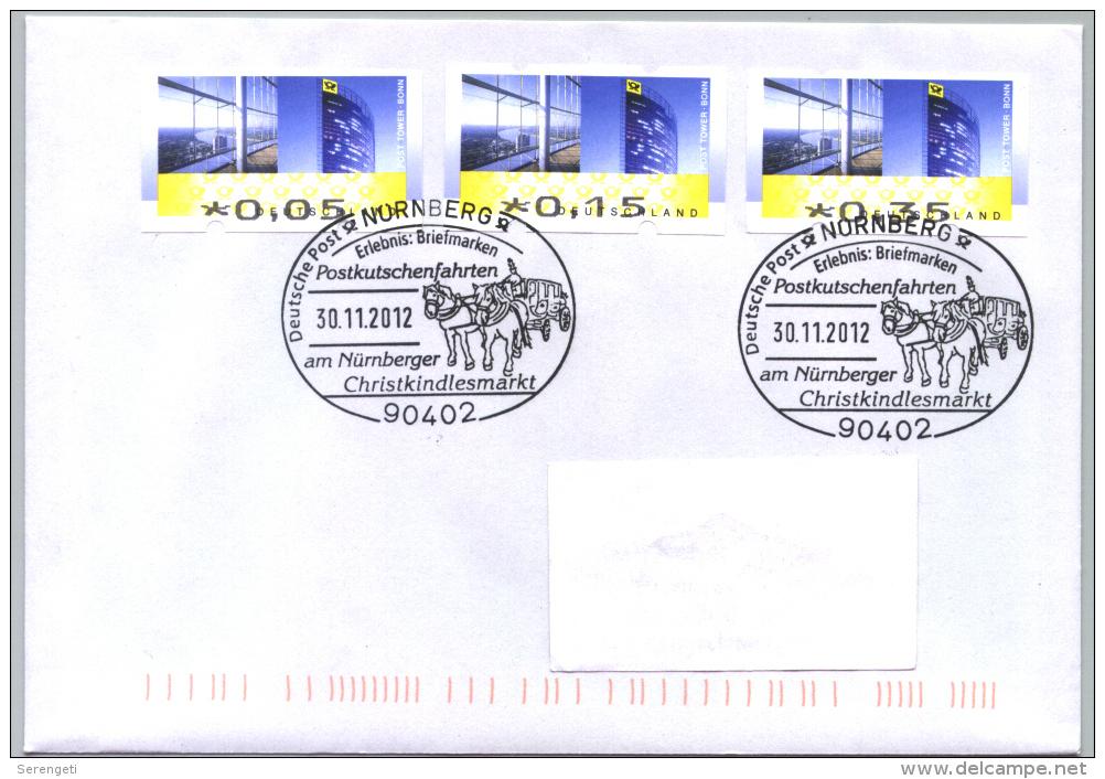 Deutschland SSt. Nürnberg 'Postkutsche Christkindlesmarkt' / Germany Pmk. 'Christkindlesmarkt Mail Coach' 2012 - Stage-Coaches