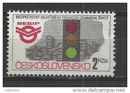 CZECHOSLOVAKIA 1992 - TRAFFIC SAFETY  - MNH MINT NEUF NUEVO - Unused Stamps
