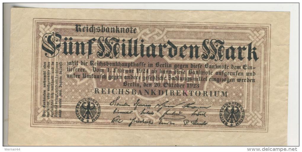 Deutsches Reich -- Reichsbanknote Während Der Inflationszeit V. 1923 5 Milliarden Mark (1810) - [ 3] 1918-1933 : Weimar Republic
