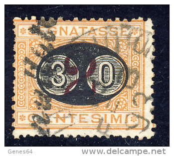 Segnatasse 3° Emissione - 1890/91 - Mascherine -  30 Cent. Su 2 Ocra E Carminio  (Sassone ST19) - 1878-00 Humbert I.