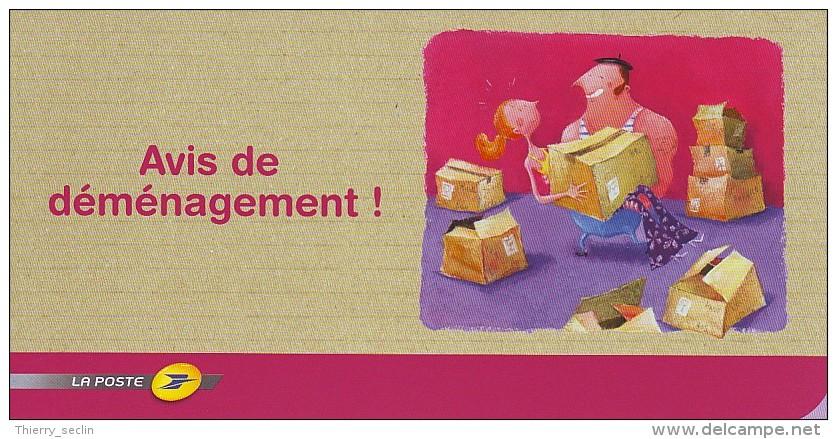 carte postale d'avis de déménagement utilisée mais non ...