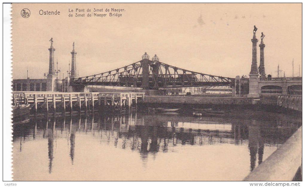 """OSTENDE Nels Non-écrite 1920 """"  Le Pont De Smet De Naeyer""""   Voir Scans  ETAT IMPECCABLE ! - Oostende"""