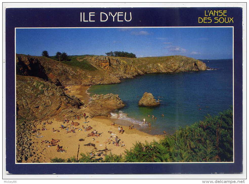 Ile D'YEU---L'Anse Des Soux (plage Animée) ,cpm  éd Jack - Ile D'Yeu