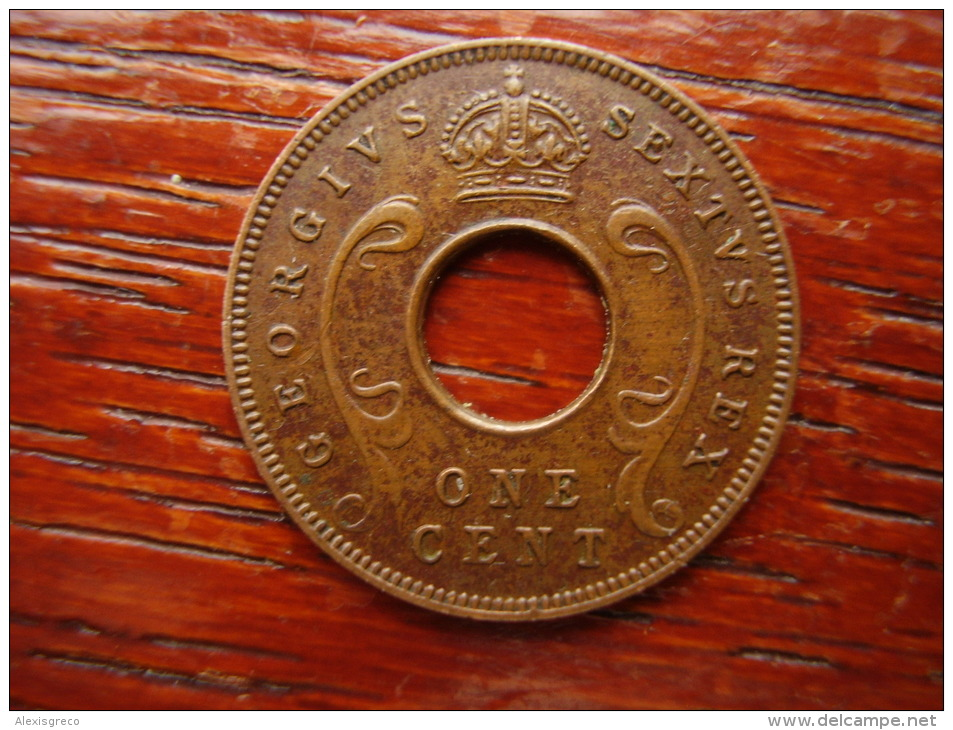 BRITISH EAST AFRICA USED EXCELLENT ONE CENT COIN BRONZE Of 1951 KN. - Africa Orientale E Protettorato D'Uganda