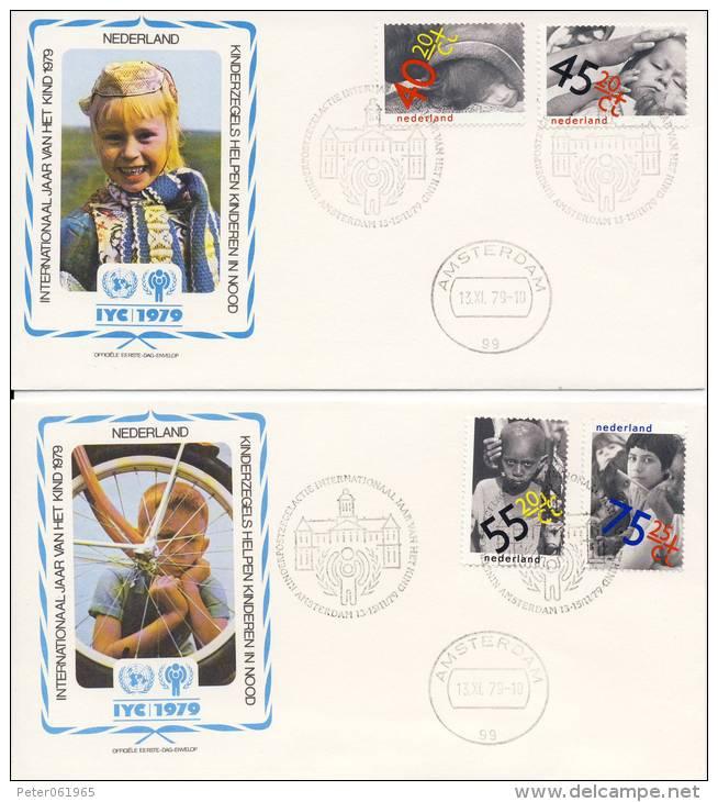 VN - Internationaal Jaar Van Het Kind 1979 - 2 FDC's Nederland - FDC
