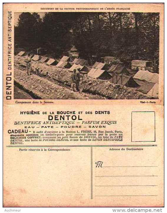 Campement Dans La Somme - Publicité Dentol, Dentifrice Antiseptique - Militaria
