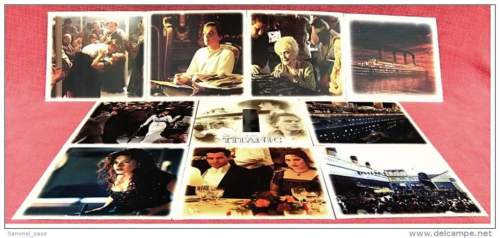 9 Bilder + 1 Filmstreifen Vom Titanic-Film  -  Von Twentieth Century Fox / Paramount Pictures 1998 - Non Classificati