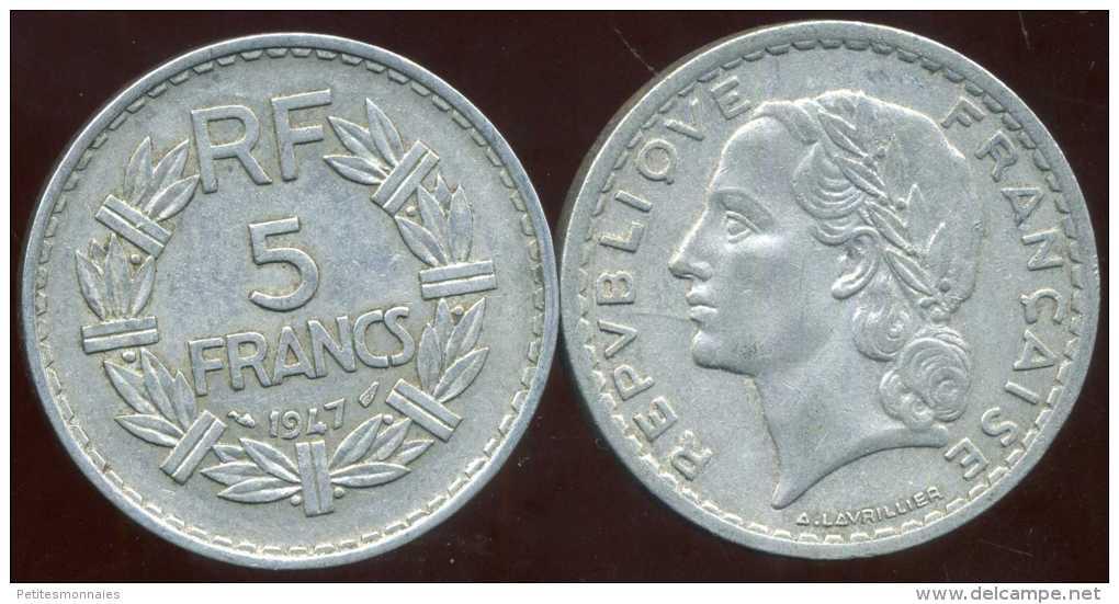 FRANCE  5 Francs 1947   Lavrillier   ( 9 Ouvert ) - France