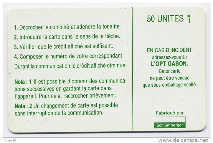 Télécarte 50 Unités Gabon - Plan De Numérotage Vert, Puce SC5 - Gabon