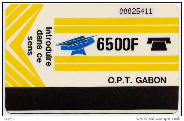 Télécarte 6500F Gabon - Logo OPT Gabon - Gabon