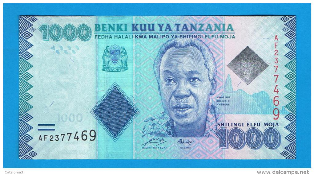 TANZANIA - 1000 Shillingi  2010 SC    P-41 - Tanzanie
