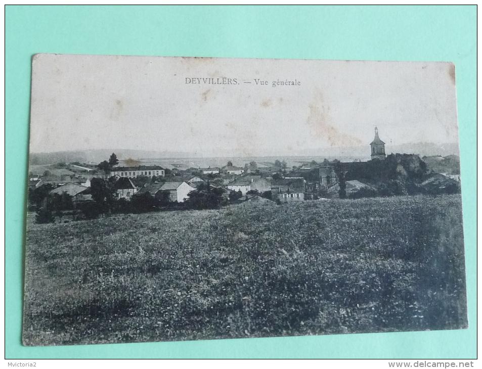 DEYVILLERS - Vue Générale - France