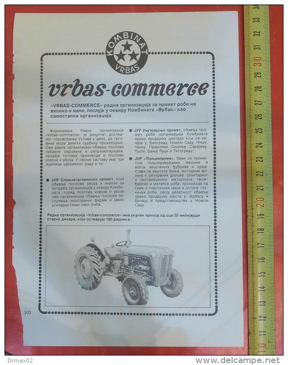 IMT 533 TRACTOR - Vrbas Commerce (Serbia) Yugoslavia / Trade - Tracteur Traktor - Tracteurs
