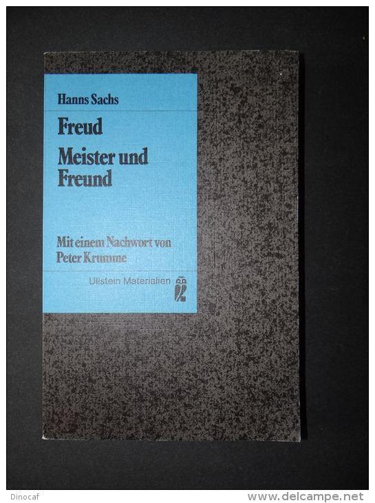 Freud - Meister Und Freund - Hanns Sachs - 1982 187 Seiten - Libri, Riviste, Fumetti