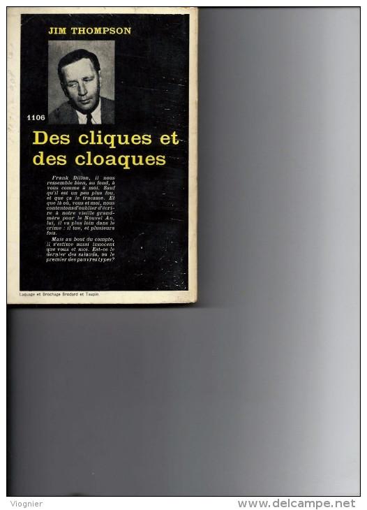 Des Cliques Et Des Cloaques  Jim Thompson    Série Noire N° 1106 Gallimard  1967 édition Originale - Série Noire