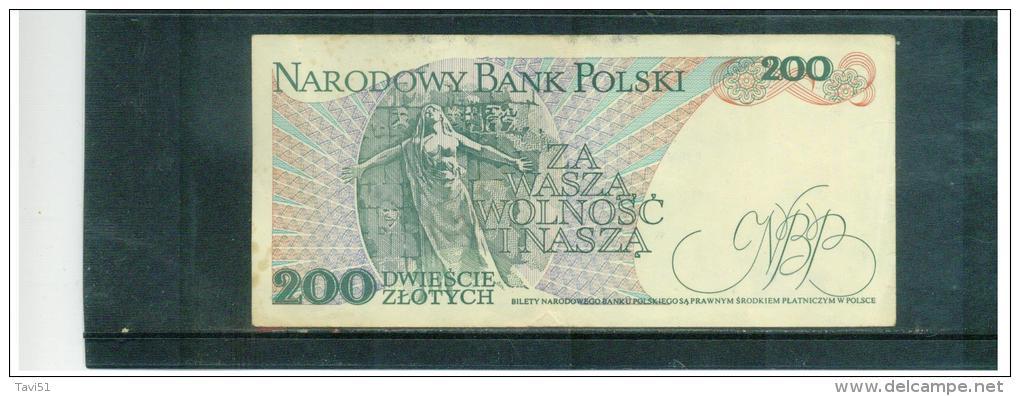 Poland Pick 144 144c 200 Zlotych UNC 1986