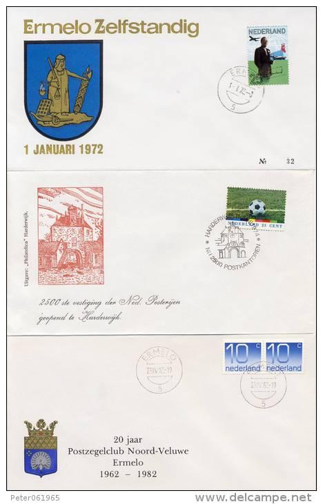 2 Gelegenheidsenveloppen Ermelo & En 1 Harderwijk - Period 1949-1980 (Juliana)