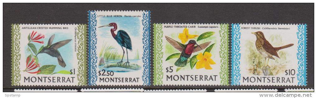 Montserrat 1970 Bird Definitives - The 4 High Values MLH - Montserrat