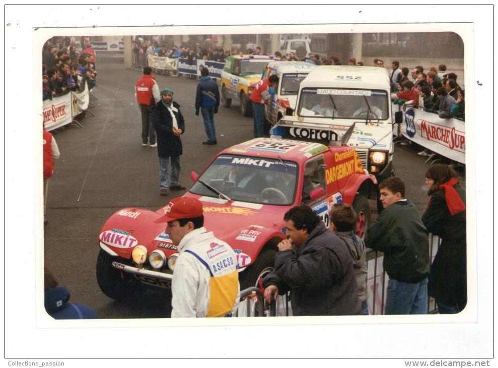 Photographie , 15 X 10 Cm , Sport Automobile , 11 E Paris-Dakar, 1988 , BRIVE , Corréze - Sports