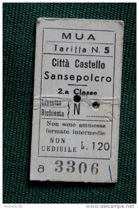 Billet MUA CITTA CASTELLO-SANSEPOLCRO  1964 Col Schnabel - Bus