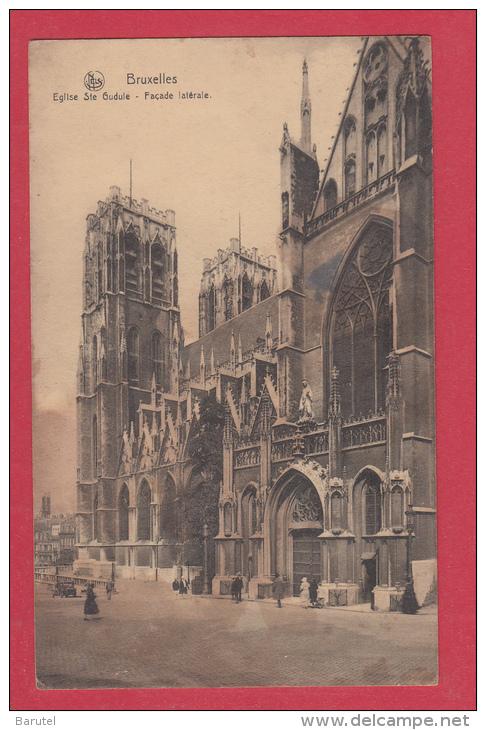 BRUXELLES [Bruxelles ~ Belgique] --> Eglise Sainte-Gudule. Façade Latérale - Monumenti, Edifici
