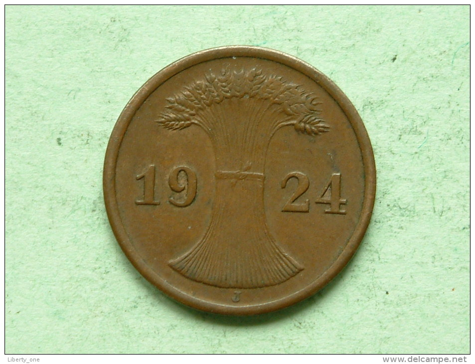 1924 J - 2 Rentenpfennig / KM 31 ( Uncleaned - For Grade, Please See Photo ) ! - 2 Rentenpfennig & 2 Reichspfennig