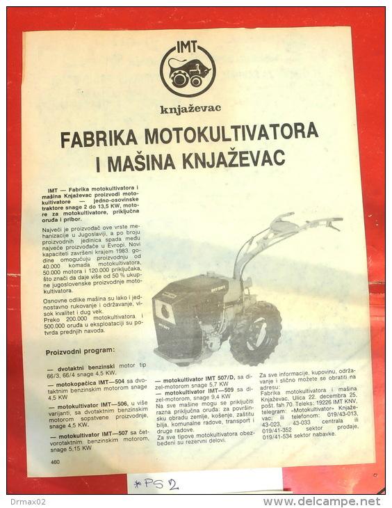 IMT Tractor Motoculteur Cultivator - Knjazevac (Serbia) Tracteur Traktor / Advertising Clipping - Tracteurs
