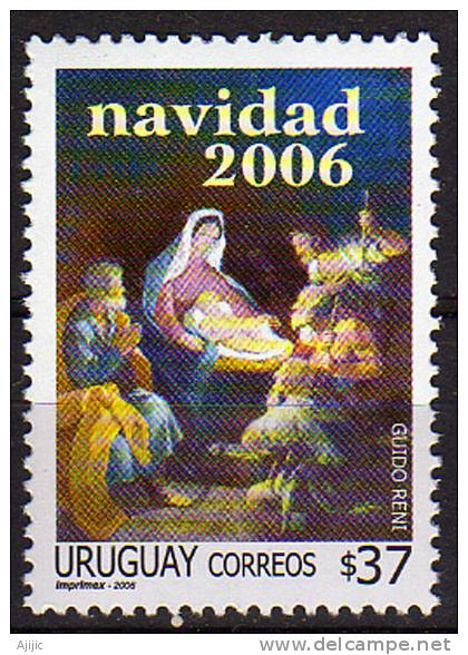 Nativite. Tableau Guido Reni. Noel 2006.  Yvert # 2298. **  URUGUAY - Uruguay