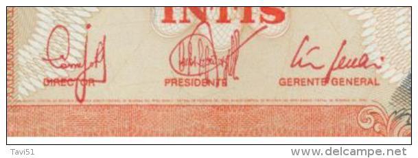 PERU  ,  50 Cincuenta Intis  ,  Printer CdM-Brasil  ,  26.6.1987  ,  Pick#131 B   ,   Unc - Peru