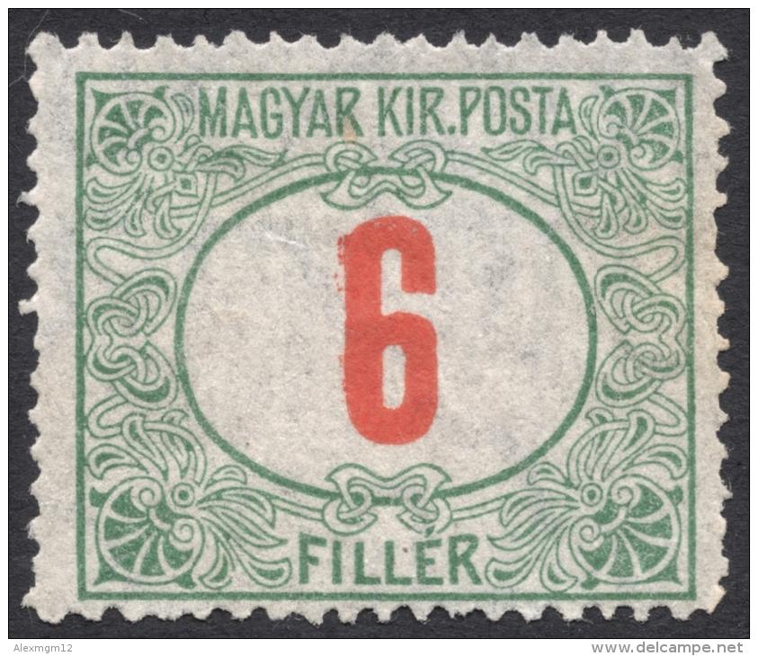 Hungary,  6 F. 1915, Sc # J31, Mi # 39, MH - Postage Due