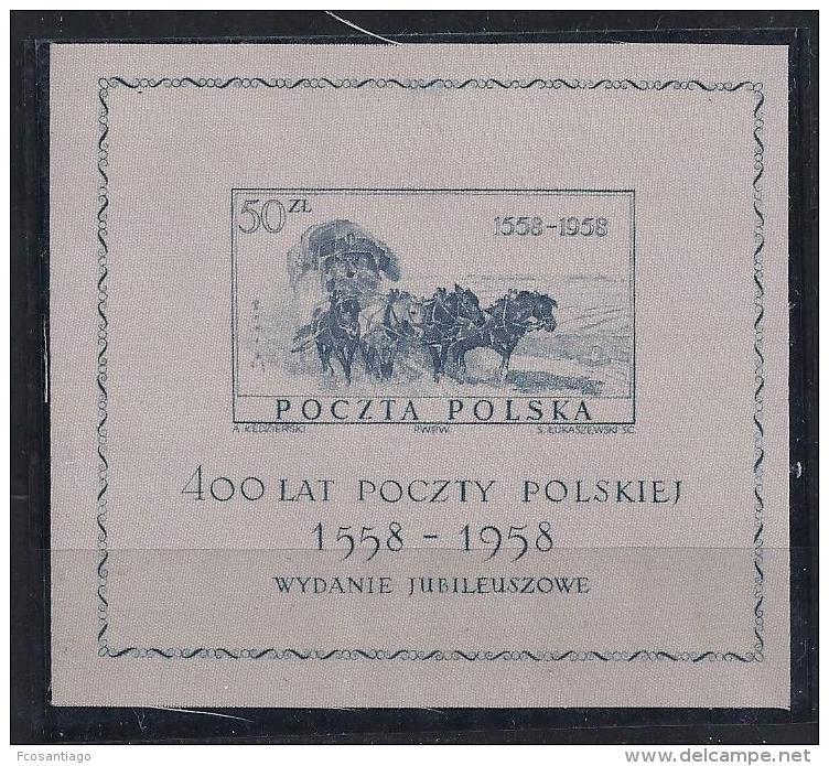 POLONIA 1958 - Yvert #H22 - MNH ** - Blocs & Hojas