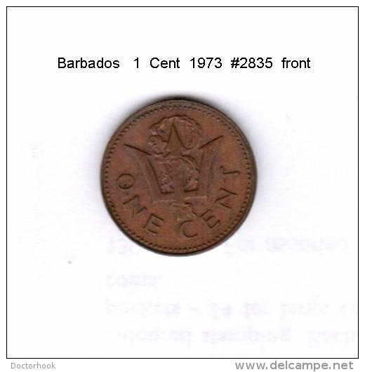 BARBADOS    1  CENT  1973  (KM # 10) - Barbades