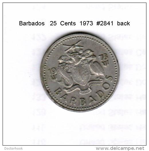 BARBADOS    25  CENTS  1973  (KM # 13) - Barbados