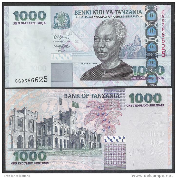 Tanzania, 1000 Shilingi, 2003, UNC. P,36. Julius K. Nyerere. - Tanzanie