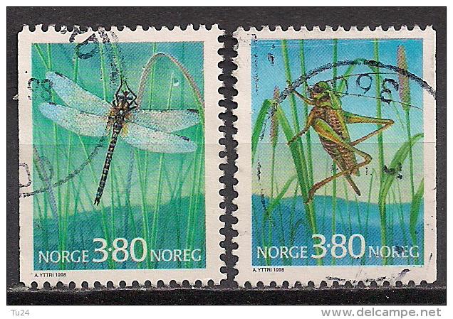 Norwegen  (1998)  Mi.Nr. 1275 + 1276  Gest. / Used  (cc173) - Norwegen