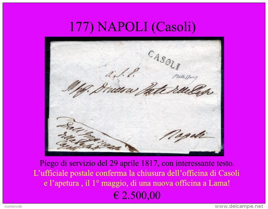 Casoli-00177 - Piego (con Interessante Contenuto Postale) Del 29 Aprile 1817 - 1. ...-1850 Prefilatelia