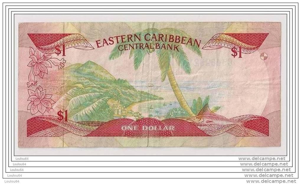 1 Dollar (non Daté) N° C348292V - EASTERN CAIBEAN CENTAL BANK - Caraïbes - - Caraïbes Orientales