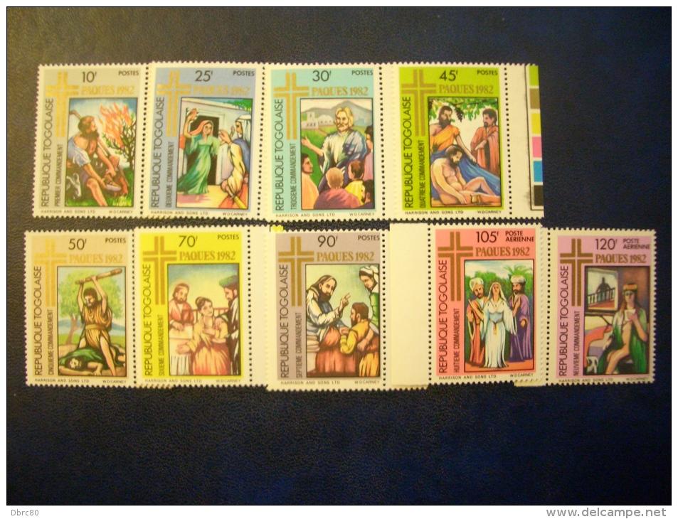 Togo 1982, Easter, Paques - Ten Commandments, Bible Stories, Religion - Togo (1960-...)