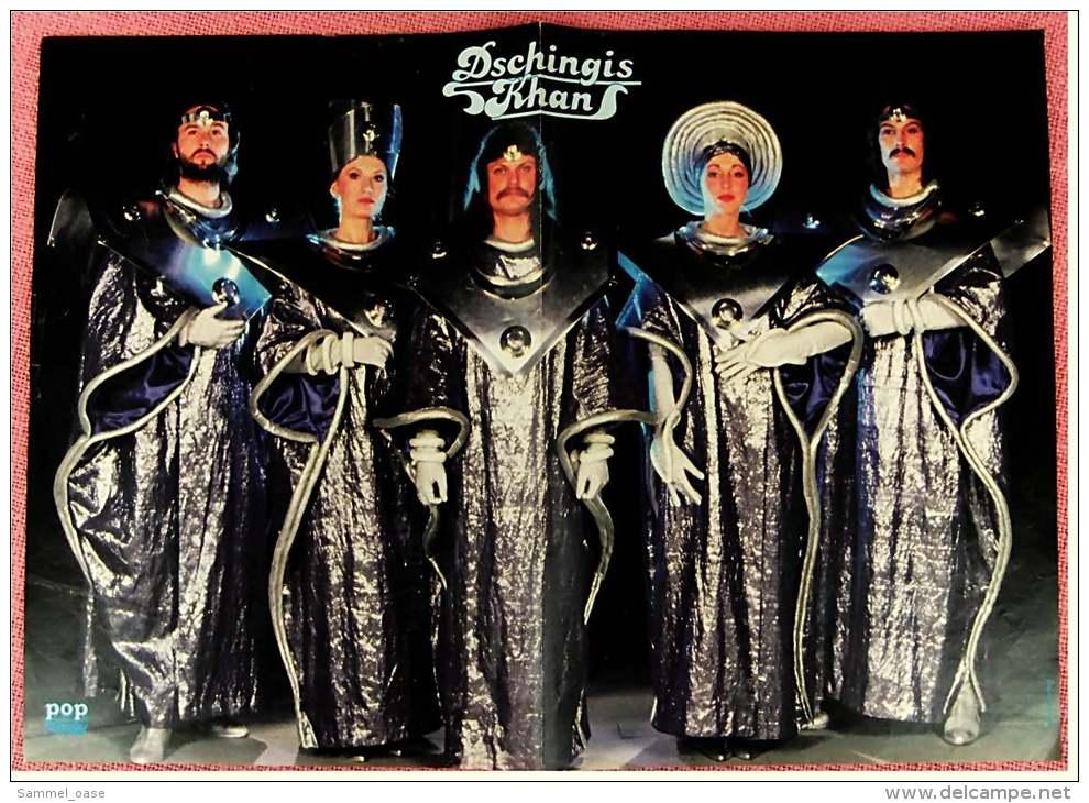 Kleines Musik-Poster  -  Gruppe Dschingis Khan  -  Rückseite :  Claus Wilcke  -  Von Pop Rocky Ca. 1982 - Plakate & Poster